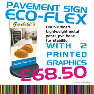 Eco Flex Pavement Sign